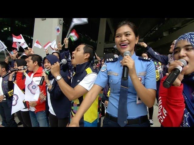 亞運中華代表團抵達印尼 台商僑胞接機