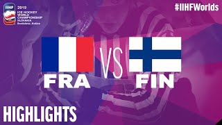 France vs. Finland - Game Highlights - #IIHFWorlds 2019