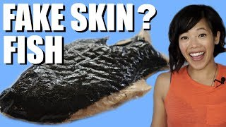 Vegan FISH with FAKE SKIN & Vegetarian EEL TASTE TEST - What does imitation fish taste like?