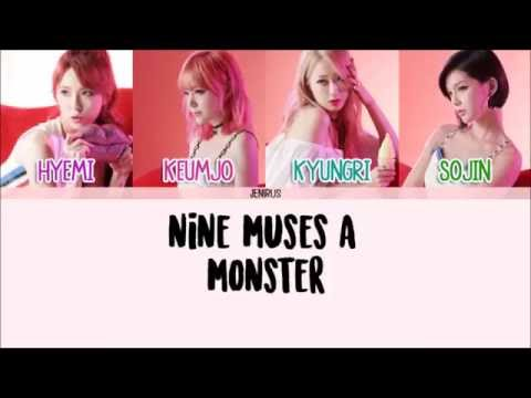 Nine Muses A - Monster [Eng/Rom/Han] Picture + Color Coded Lyrics