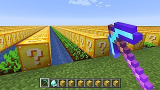 minecraft, but you can farm lucky blocks