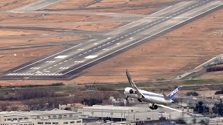 Professional Skills of this 787 pilot landing in Osaka with the most difficult approach