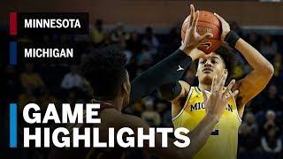 Highlights: Minnesota at Michigan   Big Ten Basketball