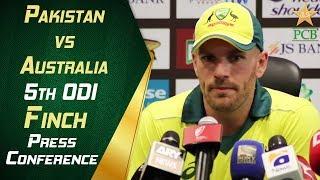 Pakistan vs Australia 5th ODI - Finch post match press conference | PCB