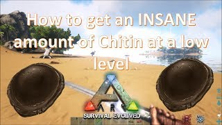 Ark Survival Evolved: How to get Chitin at a low level guide!