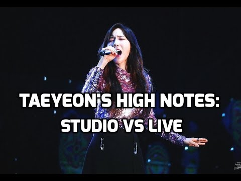 SNSD Taeyeon High Notes - Studio vs Live : Eating CDs from 2007-2017! | 태연 - 고음비교: 스튜디오 vs 라이브