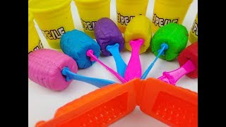 Learn Colors with Play Doh Lollipop and Cookie Molds Surprise Toys Kinder Eggs