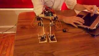 Robot ► 2-Legged Walker w/ Arduino: V1.00! [First Prototype]
