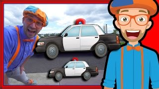 Blippi Police Car Tour | Songs for Kids of the Police Car Song