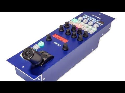 Skaarhoj RCP panel for CCU control of BlackMagic URSA Mini and Studio Camera series