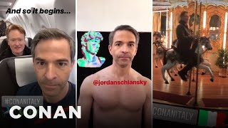 Conan & Jordan's Instagram Stories From #ConanItaly