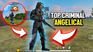 JOGUEI COM O NOVO TOP CRIMINAL ANGELICAL DO FREE FIRE
