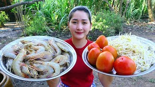 Yummy Shrimp Cooking Tomato - Shrimp Recipe - Cooking With Sros