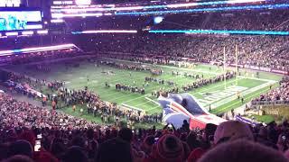 Patriots Entrance vs Green Bay