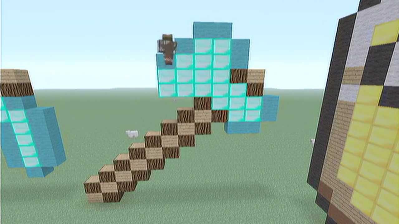 diamond axe pixel art - 1280×720