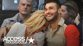 Britney Spears Packs On The PDA Courtside With Boyfriend | Access Hollywood
