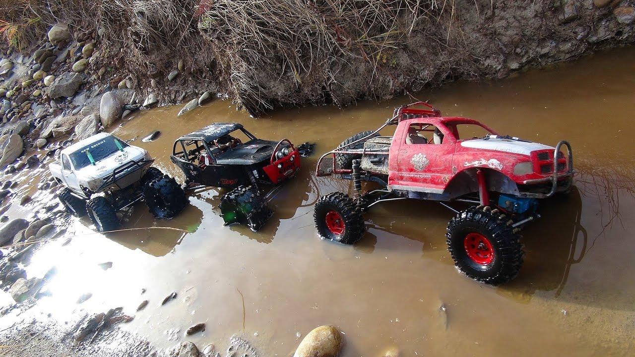 RC ADVENTURES - 3 Trail Trucks on a Fun Adventure - Group ...