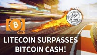 Litecoin surpasses Bitcoin Cash! ETH reaches milestone, BTC one year Flashback - Today's Crypto News