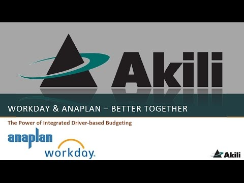 Workday and Anaplan - Better Together: The power of integrated driver based budgeting