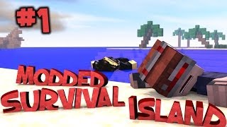 Survival Island Modded - Minecraft: Shipwrecked Part 1 #SurvivalIsland