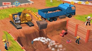Little Builders Kids Games -Digger Trucks For Toddlers -3D Construction Games Fun Construction Games