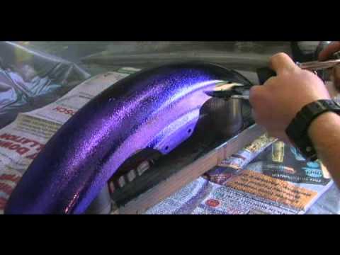 how to airbrush metal flake - YouTube
