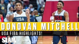 Is Donovan Mitchell the most ATHLETIC Guard on Team USA!? FIBA Highlights 🕷