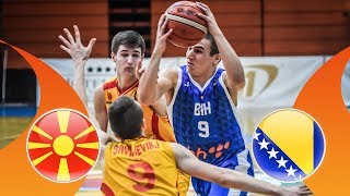 MKD v Bosnia-Herzegovina - Semi-Final - Full Game - FIBA U16 European Championship Division B 2018