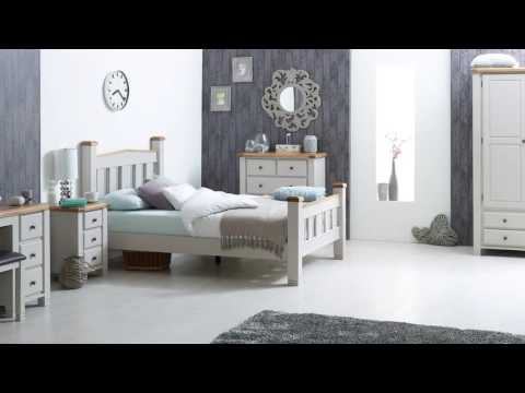 Woodstock 2 Door 2 Drawer Wardrobe - Grey