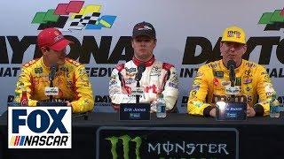 Joey Logano, Kyle Busch, Erik Jones talk Daytona 500   INTERVIEW   2019 DAYTONA 500