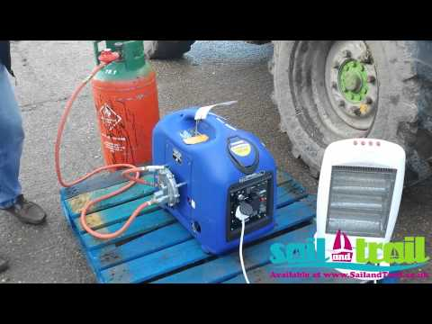 Hyundai HY3000SEI LPG Starting Demonstration Via Remote Start by Sail and Trail