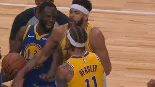 Draymond Green Exchanges Words With Michael Beasley Who Gets Ejected! Lakers vs Warriors