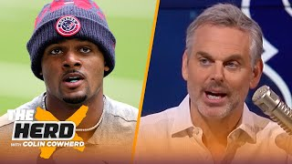 Why would Deshaun Watson want to go to Jets? Talks Aaron Rodgers' future — Colin | NFL | THE HERD