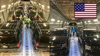 Máy bay C-17 chở theo những gì đến Việt Nam cho Tổng thống Trump?
