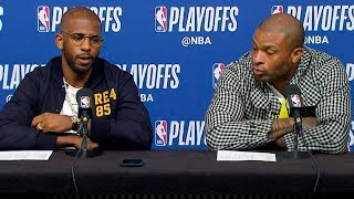 Chris Paul & PJ Tucker Postgame Interview - Game 2 | Jazz vs Rockets | 2019 NBA Playoffs