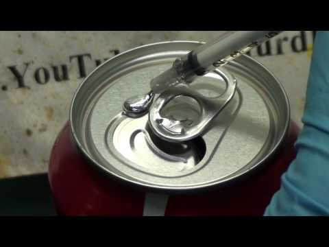 Gallium induced structural failure of a coke can xem for Coke can heater