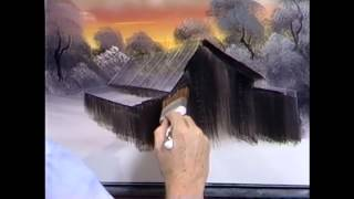 The Joy of Painting S7E7 Barn at Sunset
