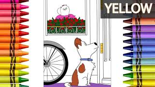Secret Life of Pets coloring | Coloring book | Learning colors for Kids