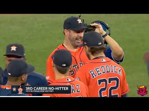 Justin Verlander throws his 3rd Career no hitter against the Blue Jays
