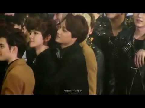 [Fancam]130131 SMA- EXO-K Kai backhugging Baekhyun