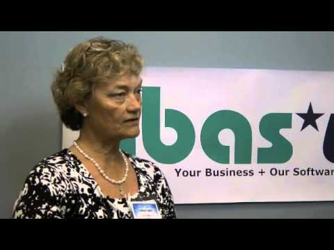 Frances with Gunold talks about distribution with abas