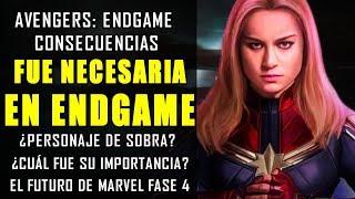 ¿QUÉ HIZO ELLA? Captain Marvel ¿Qué demonios APORTÓ Carol Danvers en Avengers Endgame?   Explicación
