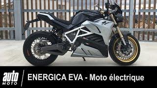 Moto électrique : l'Energica Eva à l'essai sur Auto-Moto