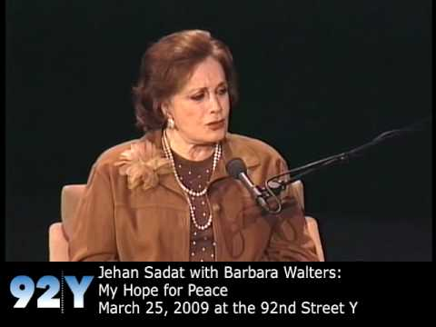 Jehan Sadat and Barbara Walters: My Hope for Peace at the 92nd ...