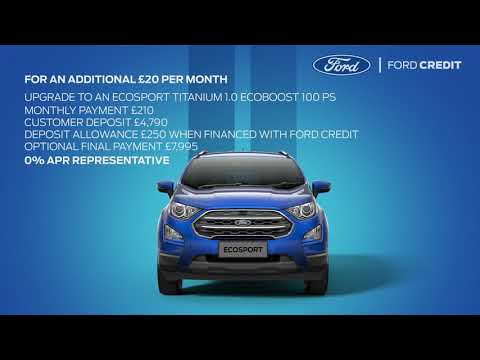 My Ford Credit >> Ford Ecosport Offers Wellingborough Northamptonshire