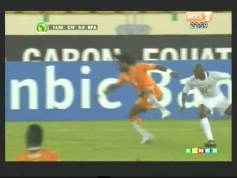 CAN 2012/Groupe B.Temps forts du match Côte d'Ivoire - Burkina (2-0)
