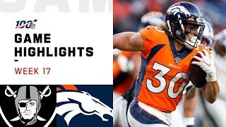 Raiders vs. Broncos Week 17 Highlights | NFL 2019