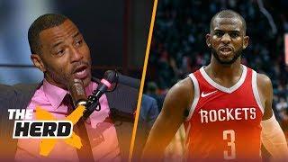 Kenyon Martin on why NBA players don't like Chris Paul, Picks Warriors over Rockets | NBA | THE HERD