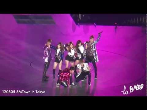 [Fancam] 120805 TTS ft. EXO - DJ Got Us Falling in Love Again [SMTown Tokyo]