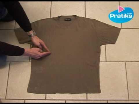 Cómo doblar una camisa in 5 segundos